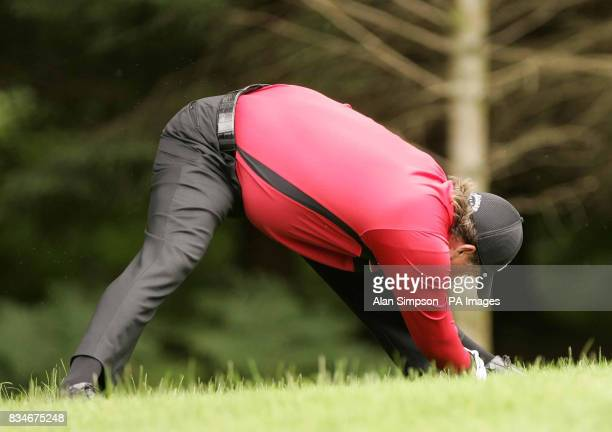 Phil Mickelson limbers up during The Barclays Scottish Open at Loch Lomond Glasgow