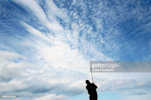 Phil Mickelson of the United States hits his tee shot on the second hole during the third round of the Aberdeen Asset Management Scottish Open at...