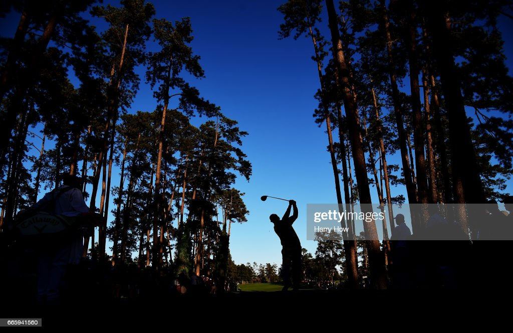 Phil Mickelson of the United States plays his shot from the 17th tee during the second round of the 2017 Masters Tournament at Augusta National Golf Club on April 7, 2017 in Augusta, Georgia.