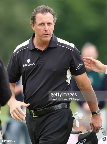 Phil Mickelson on the 9th during The Barclays Scottish Open at Loch Lomond Glasgow
