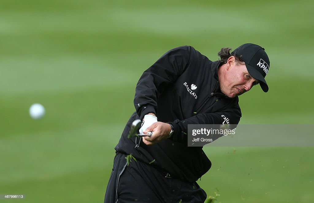 <a gi-track='captionPersonalityLinkClicked' href=/galleries/search?phrase=Phil+Mickelson&family=editorial&specificpeople=157543 ng-click='$event.stopPropagation()'>Phil Mickelson</a> plays a shot during the third round of the AT&T Pebble Beach National Pro-Am at the Spyglass Hill Golf Course on February 8, 2014 in Pebble Beach, California.