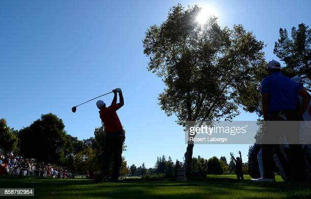 Phil Mickelson plays his shot from the 13th tee during the third round of the Safeway Open at the North Course of the Silverado Resort and Spa on...