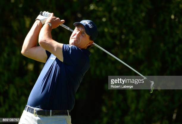 Phil Mickelson plays his shot from the fifth tee during the final round of the Safeway Open at the North Course of the Silverado Resort and Spa on...