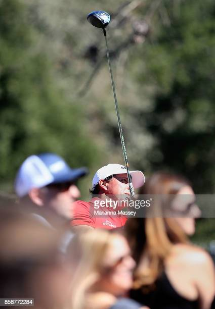 Phil Mickelson plays his shot from the seventh tee during the third round of the Safeway Open at the North Course of the Silverado Resort and Spa on...