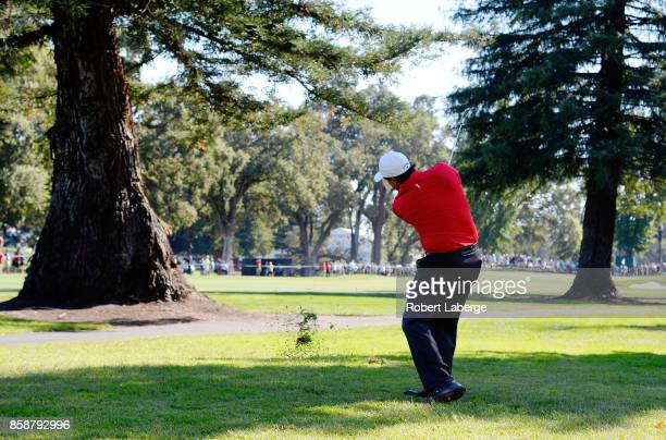 Phil Mickelson plays his shot on the 13th hole during the third round of the Safeway Open at the North Course of the Silverado Resort and Spa on...