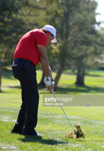 Phil Mickelson plays his shot on the third hole during the third round of the Safeway Open at the North Course of the Silverado Resort and Spa on...