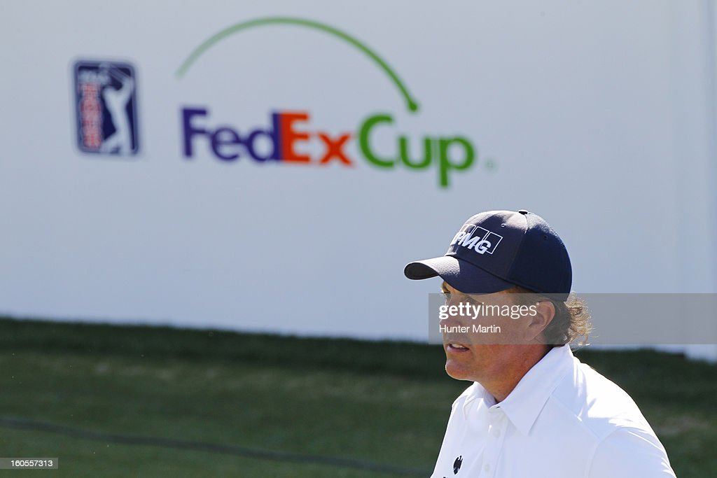 Phil Mickelson stands on the tee on the 17th hole during the third round of the Waste Management Phoenix Open at TPC Scottsdale on February 2, 2013 in Scottsdale, Arizona.