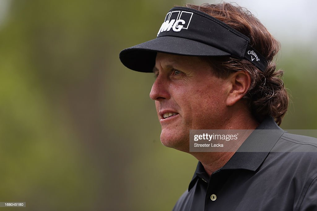 Phil Mickelson walks down the fairway during the third round of the Wells Fargo Championship at Quail Hollow Club on May 4, 2013 in Charlotte, North Carolina.