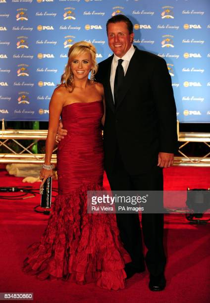 Phil Mickelson with wife Amy arrive for the Ryder Cup Gala at The Kentucky Centre Louisville