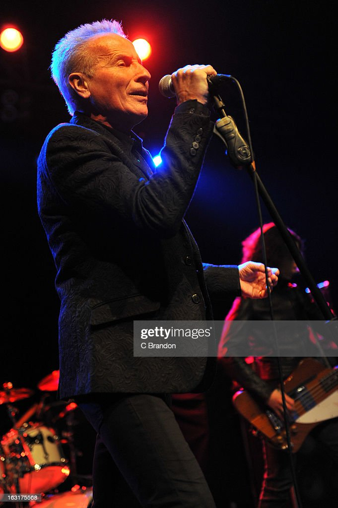 Phil Mogg of UFO performs on stage at The Forum on March 5, 2013 in London, England.
