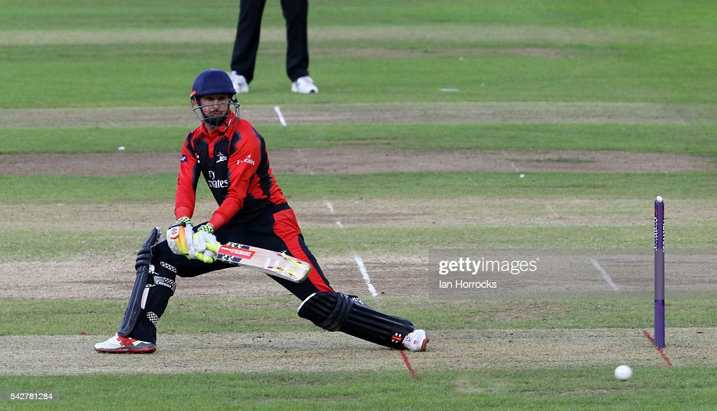 Phil Mustard of Durham during The NatWest T20 Blast game between Durham Jets and Yorkshire Vikings at Emirates Durham ICG on June 24, 2016 in Chester-le-Street, England.