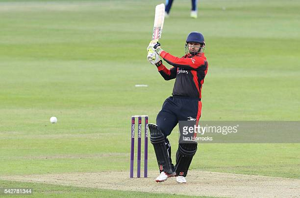 Phil Mustard of Durham during The NatWest T20 Blast game between Durham Jets and Yorkshire Vikings at Emirates Durham ICG on June 24 2016 in...