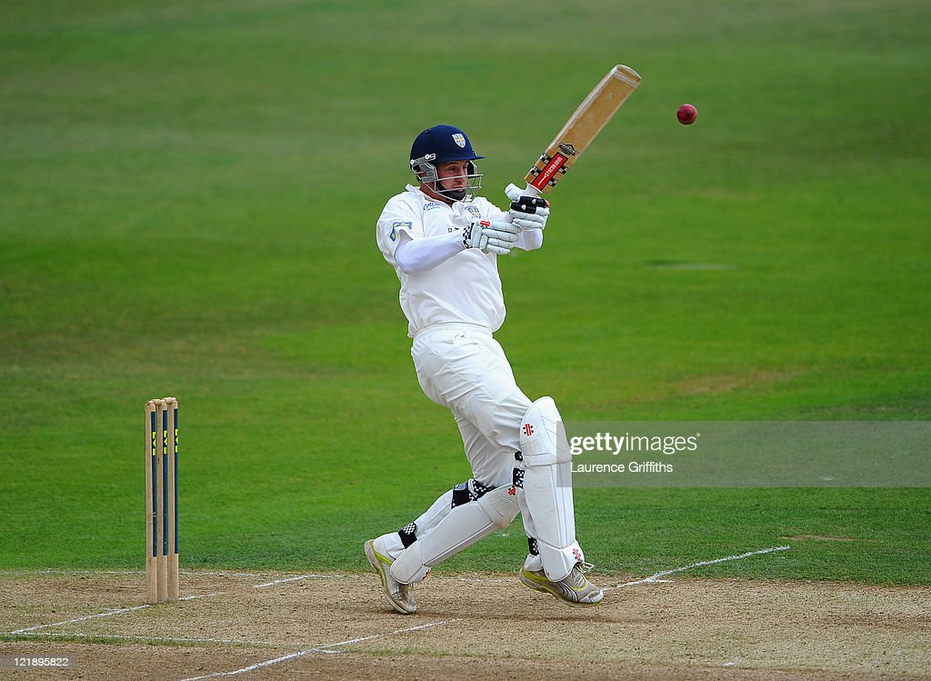 Phil Mustard of Durham in action during the LV County Championship match between Nottinghamshire and Durham at Trent Bridge on August 23 2011 in...