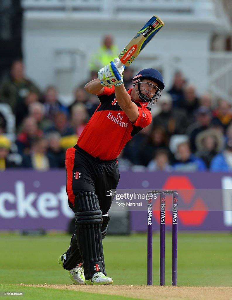 Phil Mustard of Durham Jets bats during the NatWest T20 Blast between Nottingham Outlaws and Durham Jets at Trent Bridge on May 31 2015 in Nottingham...