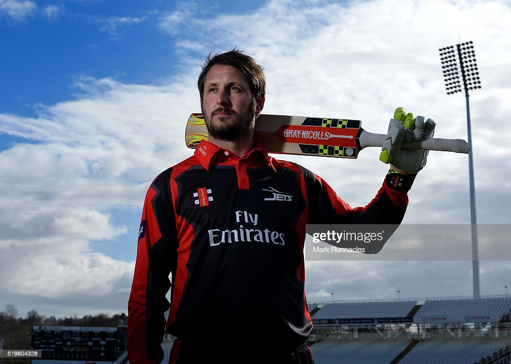 Phil Mustard of Durham poses for a photograph during the Durham County Cricket Club photocall at the Riverside on April 8 2016 in ChesterLeStreet...