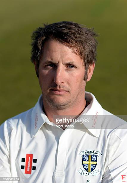 Phil Mustard of Durham poses for a portrait during the Durham CCC Photocall at The Riverside on March 31 2015 in ChesterleStreet England