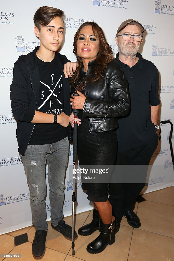 Phil, Orianne, and Nic Collins attend Little Dreams Foundation Annual Open Musical Auditions at Seminole Hard Rock Hotel & Casino on June 11, 2016 in Hollywood, Florida.