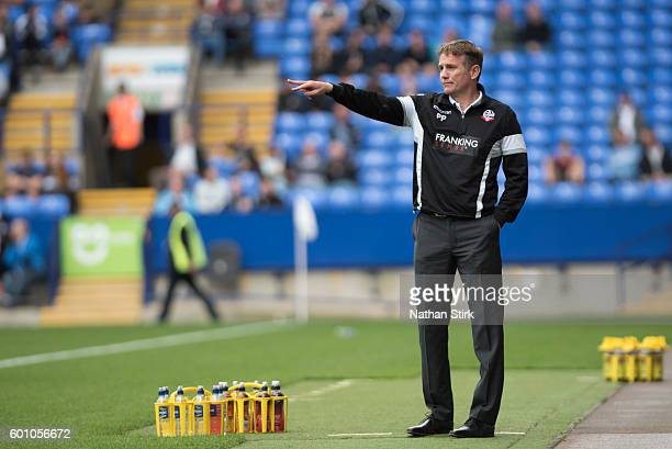 Phil Parkinson manager of Bolton Wanderers during the PreSeason Friendly between Bolton Wanderers and Preston North End at Macron Stadium on July 30...