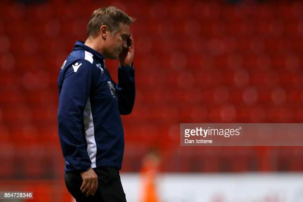 Phil Parkinson manager of Bolton Wanderers reacts on the touchline during the Sky Bet Championship match between Bristol City and Bolton Wanderers at...