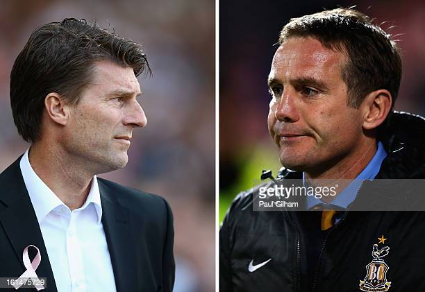 FILE PHOTO COMPOSITE OF TWO IMAGES a comparison has been made between Michael Laudrup and Phil Parkinson Original image ids are 153538317 157239656...