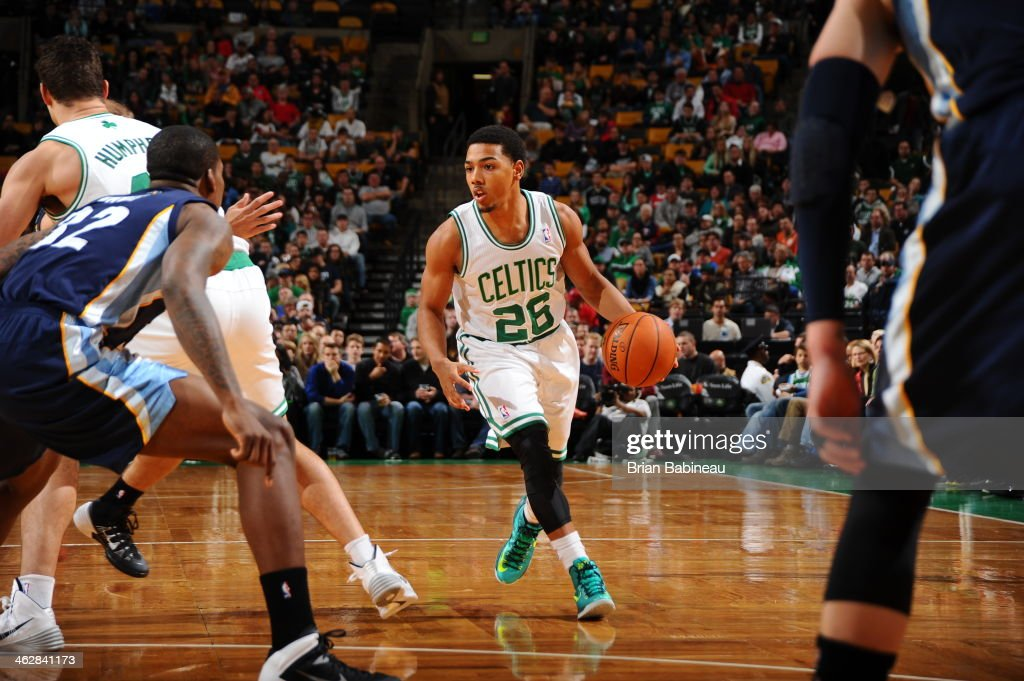 <a gi-track='captionPersonalityLinkClicked' href=/galleries/search?phrase=Phil+Pressey&family=editorial&specificpeople=7399881 ng-click='$event.stopPropagation()'>Phil Pressey</a> #26 of the Boston Celtics drives against the Memphis Grizzlies on November 27, 2013 at the TD Garden in Boston, Massachusetts.
