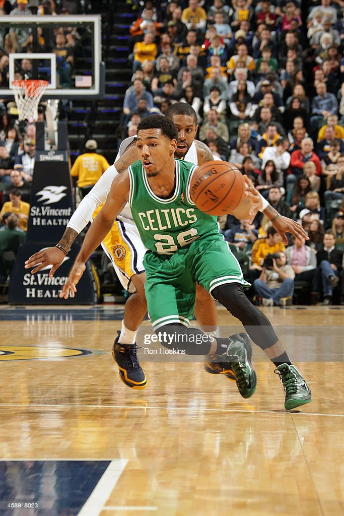 Phil Pressey #26 of the Boston Celtics handles the ball against the Indiana Pacers at Bankers Life Fieldhouse on December 22, 2013 in Indianapolis, Indiana.