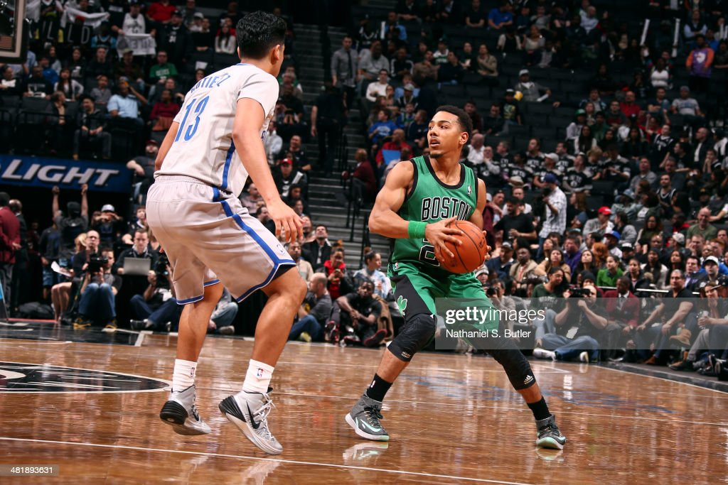 <a gi-track='captionPersonalityLinkClicked' href=/galleries/search?phrase=Phil+Pressey&family=editorial&specificpeople=7399881 ng-click='$event.stopPropagation()'>Phil Pressey</a> #26 of the Boston Celtics handles the ball against the Brooklyn Nets at the Barclays Center on March 21, 2014 in the Brooklyn borough of New York City.