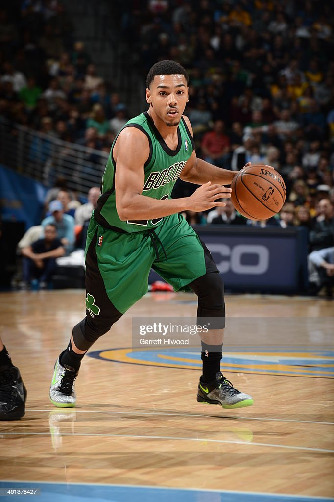 <a gi-track='captionPersonalityLinkClicked' href=/galleries/search?phrase=Phil+Pressey&family=editorial&specificpeople=7399881 ng-click='$event.stopPropagation()'>Phil Pressey</a> #26 of the Boston Celtics handles the ball against the Denver Nuggets on January 7, 2014 at the Pepsi Center in Denver, Colorado.