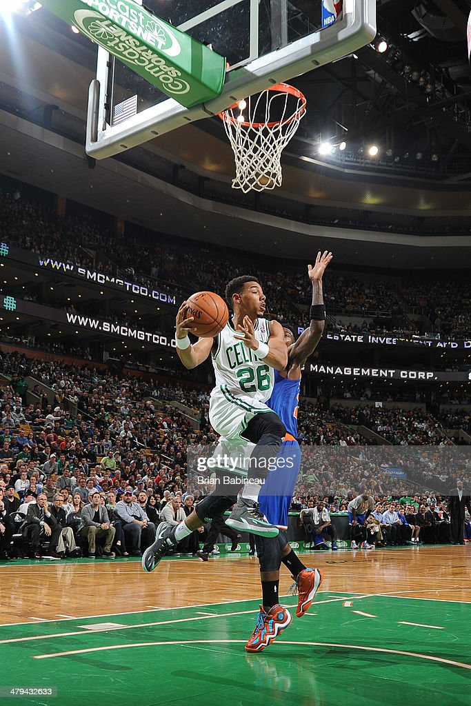 <a gi-track='captionPersonalityLinkClicked' href=/galleries/search?phrase=Phil+Pressey&family=editorial&specificpeople=7399881 ng-click='$event.stopPropagation()'>Phil Pressey</a> #26 of the Boston Celtics looks to pass against the New York Knicks on March 12, 2014 at the TD Garden in Boston, Massachusetts.