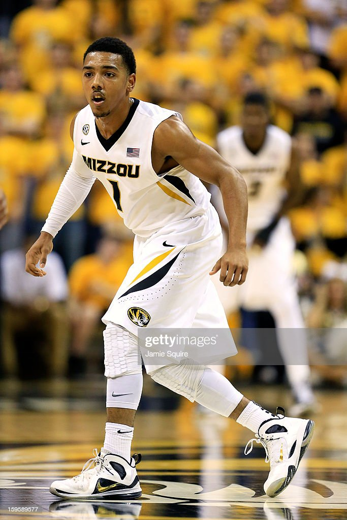 Phil Pressey #1 of the Missouri Tigers in action during the game against the Georgia Bulldogs at Mizzou Arena on January 16, 2013 in Columbia, Missouri.