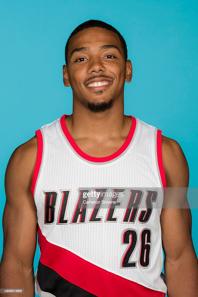 <a gi-track='captionPersonalityLinkClicked' href=/galleries/search?phrase=Phil+Pressey&family=editorial&specificpeople=7399881 ng-click='$event.stopPropagation()'>Phil Pressey</a> #26 of the Portland Trail Blazers poses for a head shot during media day on September 28, 2015 at the MODA Center Arena in Portland, Oregon.