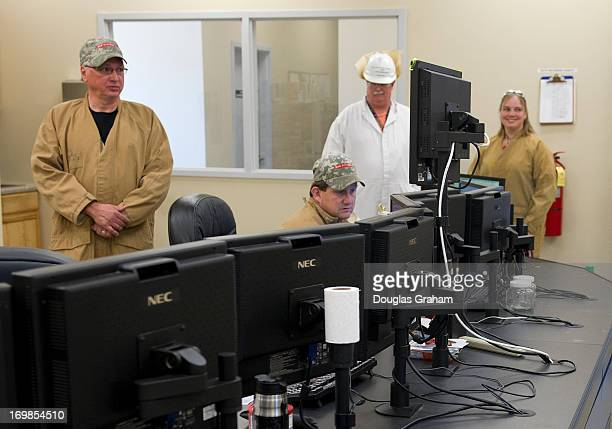Phil Reed and David Hicks monitor control panels of the operations at the Radford Army Ammunition PlantThe primary mission of Radford Army Ammunition...