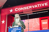 Phil Robertson of AE's Duck Dynasty addresses the 42nd annual Conservative Political Action Conference at the Gaylord National Resort Hotel and...