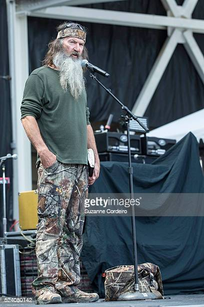 Phil Robertson of Duck Dynasty appears and gives a sermon during RedFest at the Austin360 Amphitheater on May 25 2014 in Austin Texas