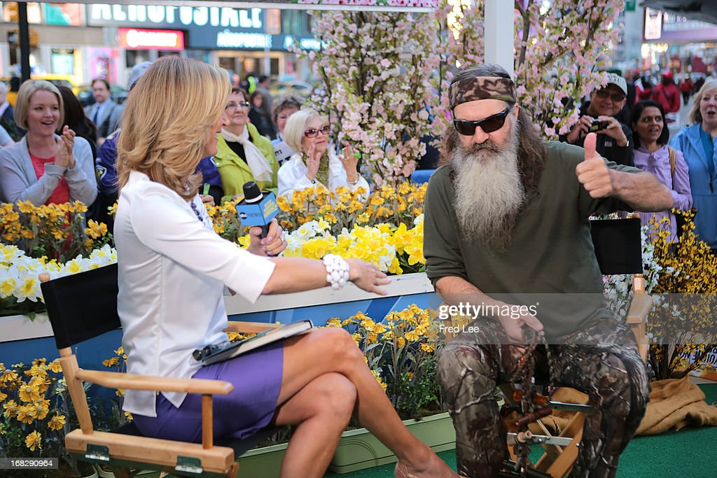 AMERICA - Phil Robertson of 'Duck Dynasty' is a guest on 'Good Morning America,' 5/7/13, airing on the ABC Television Network. (Photo by Fred Lee/ABC via Getty Images) LARA