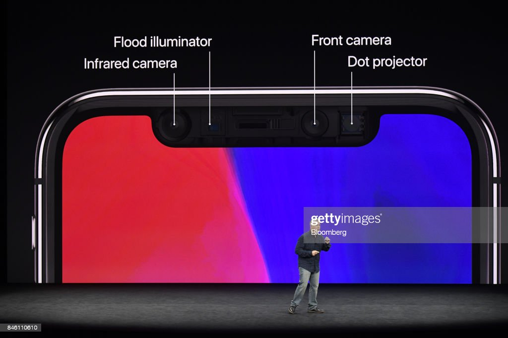 Phil Schiller, senior vice president of worldwide marketing at Apple Inc., speaks about the iPhone X during an event at the Steve Jobs Theater in Cupertino, California, U.S., on Tuesday, Sept. 12, 2017. Apple Inc. unveiled its most important new iPhone for years to take on growing competition from Samsung Electronics Co., Google and a host of Chinese smartphone makers. Photographer: David Paul Morris/Bloomberg via Getty Images