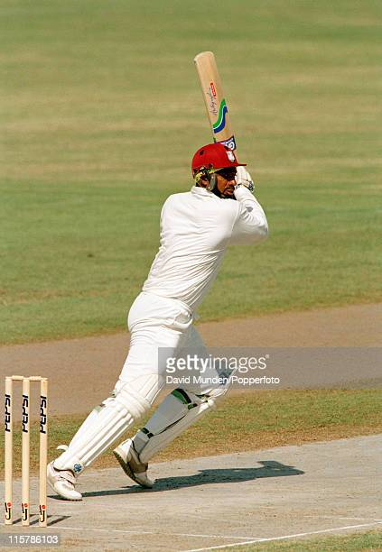 Phil Simmons batting for the West Indies in Sharja circa 1993