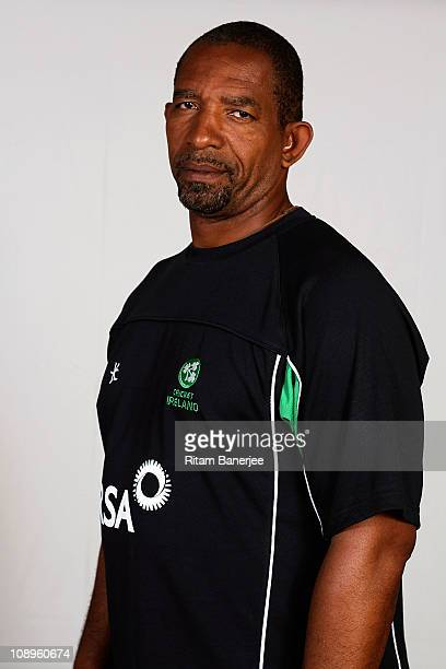 Phil Simmons Coach of Ireland poses for a portrait during the Ireland Team Portrait Session on February 10 2011 in Nagpur India