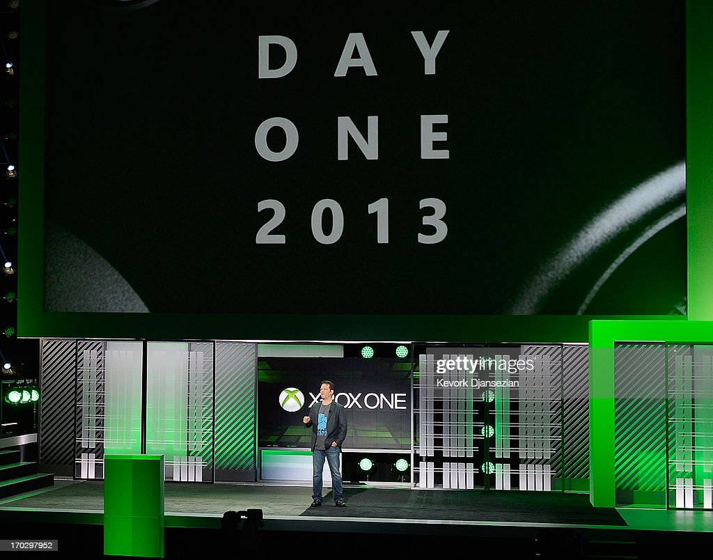 Phil Spencer, vice president of Microsoft Game Studios at Microsoft Corp. speaks during Microsoft Xbox news conference at the Electronic Entertainment Expo at the Galen Center on June 10, 2013 in Los Angeles, California. Thousands are expected to attend the annual three-day convention to see the latest games and announcements from the gaming industry.