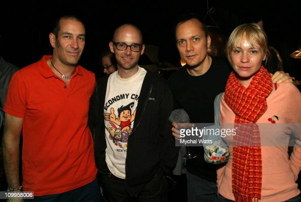 Phil Staunton Moby Chris Wink and Kelly Tisdale during DTS Entertainment and The Blue Man Group Release Exclusive Surround Sound Version of the Blue...