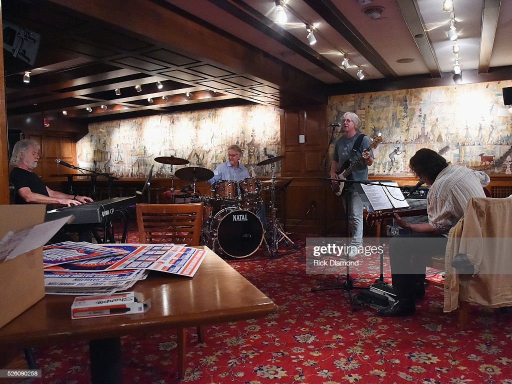 'Phil & the Busters' featuring Rolling Stone's Keyboardist <a gi-track='captionPersonalityLinkClicked' href=/galleries/search?phrase=Chuck+Leavell&family=editorial&specificpeople=1669001 ng-click='$event.stopPropagation()'>Chuck Leavell</a>, Marshall Tucker Band's Paul Riddle, R.E.M.'s Bassist <a gi-track='captionPersonalityLinkClicked' href=/galleries/search?phrase=Mike+Mills+-+Bass+Player&family=editorial&specificpeople=223985 ng-click='$event.stopPropagation()'>Mike Mills</a> and Widespread Panic's Singer/Guitarist <a gi-track='captionPersonalityLinkClicked' href=/galleries/search?phrase=John+Bell&family=editorial&specificpeople=239006 ng-click='$event.stopPropagation()'>John Bell</a> rehearse for the White House Correspondents' Jam II presented by Mother Nature Network at The Hamilton on April 29, 2016 in Washington, DC.