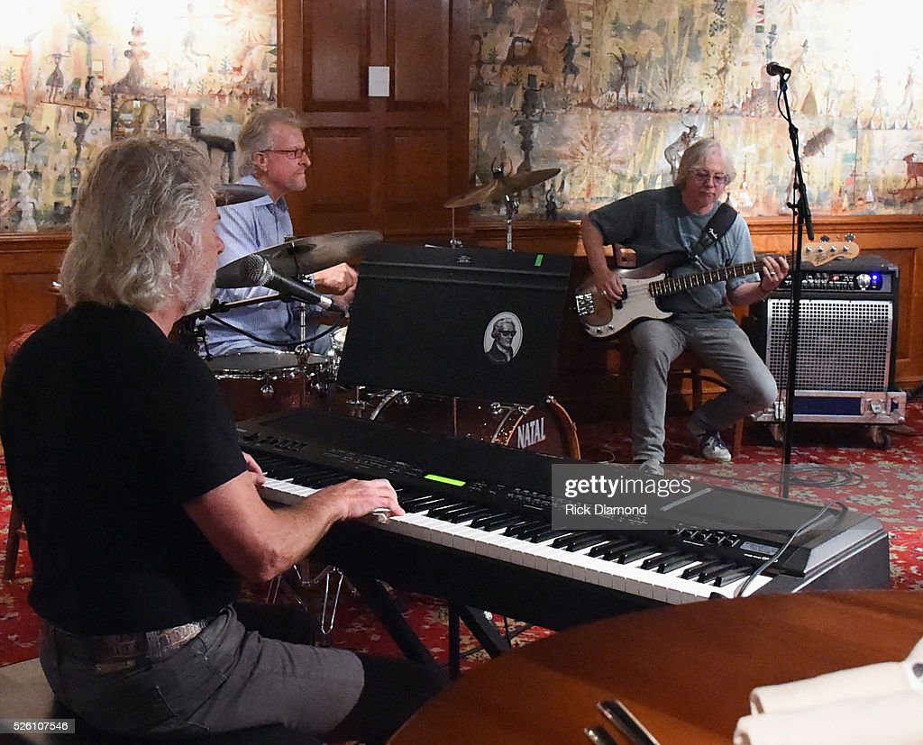 'Phil & the Busters' featuring Rolling Stone's Keyboardist Chuck Leavell, Marshall Tucker Band's Paul Riddle and R.E.M.'s Bassist Mike Mills rehearse for the White House Correspondents' Jam II presented by Mother Nature Network at The Hamilton on April 29, 2016 in Washington, DC.