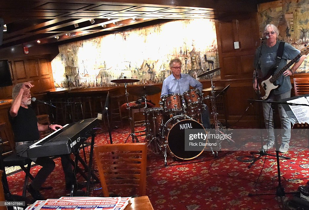 'Phil & the Busters' featuring Rolling Stone's Keyboardist <a gi-track='captionPersonalityLinkClicked' href=/galleries/search?phrase=Chuck+Leavell&family=editorial&specificpeople=1669001 ng-click='$event.stopPropagation()'>Chuck Leavell</a>, Marshall Tucker Band's Paul Riddle and R.E.M.'s Bassist <a gi-track='captionPersonalityLinkClicked' href=/galleries/search?phrase=Mike+Mills+-+Musicien&family=editorial&specificpeople=223985 ng-click='$event.stopPropagation()'>Mike Mills</a> rehearse for the White House Correspondents' Jam II presented by Mother Nature Network at The Hamilton on April 29, 2016 in Washington, DC.