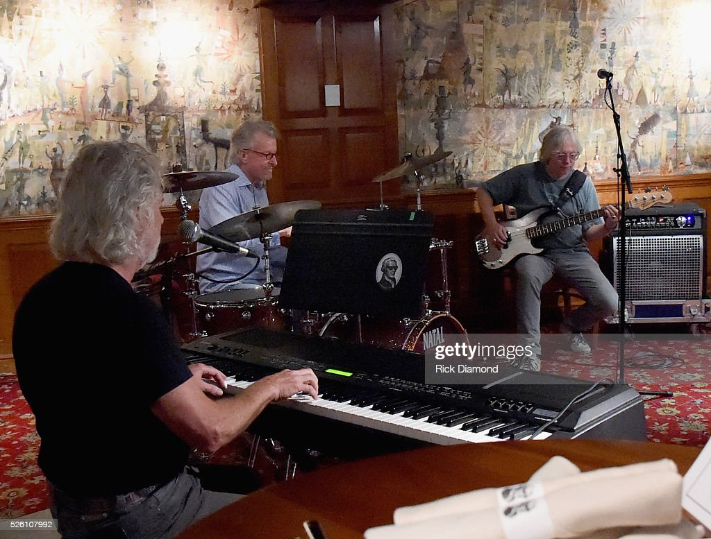 'Phil & the Busters' featuring Rolling Stone's Keyboardist <a gi-track='captionPersonalityLinkClicked' href=/galleries/search?phrase=Chuck+Leavell&family=editorial&specificpeople=1669001 ng-click='$event.stopPropagation()'>Chuck Leavell</a>, Marshall Tucker Band's Paul Riddle and R.E.M.'s Bassist <a gi-track='captionPersonalityLinkClicked' href=/galleries/search?phrase=Mike+Mills+-+Bass+Player&family=editorial&specificpeople=223985 ng-click='$event.stopPropagation()'>Mike Mills</a> rehearse for the White House Correspondents' Jam II presented by Mother Nature Network at The Hamilton on April 29, 2016 in Washington, DC.