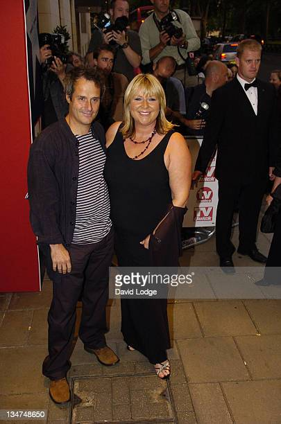 Phil Vickery and Fern Britton during 2005 TV Quick TV Choice Awards Arrivals at The Dorchester in London Great Britain