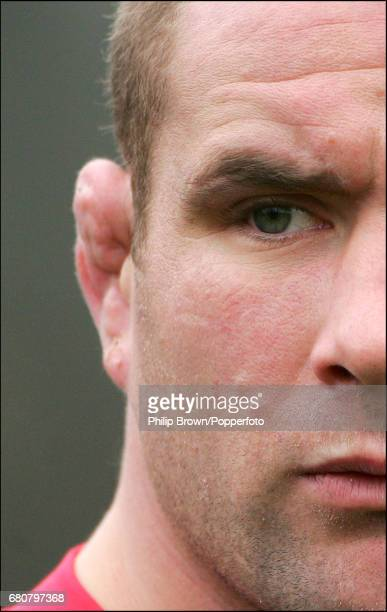Phil Vickery of England during a training session at the University of Bath prior to the Six Nations match against Scotland on the 30th January 2007