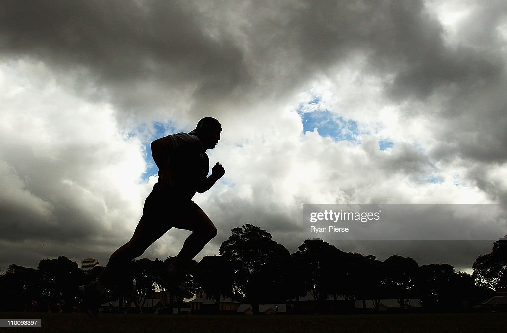 Phil Waugh runs during a Waratahs Super Rugby training session at Victoria Barracks on March 15, 2011 in Sydney, Australia.