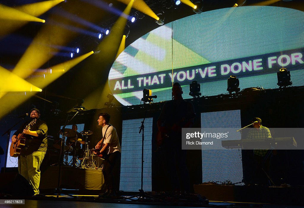 Phil Wickham and Big Daddy Weave perform at the 2nd Annual KLOVE Fan Awards at the Grand Ole Opry House on June 1 2014 in Nashville Tennessee