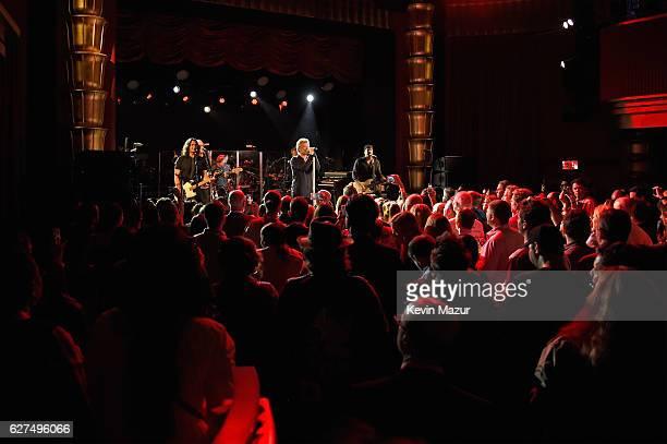 Phil X Hugh McDonald Tico Torres Jon Bon Jovi David Bryan and John Shanks of Bon Jovi perform onstage Bon Jovi Live presented by SiriusXM during Art...