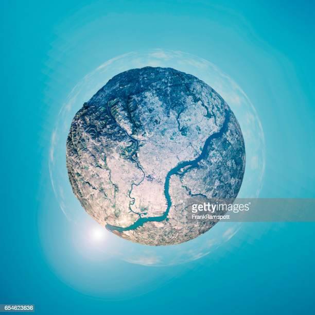 Philadelphia 3D Little Planet 360-Degree Sphere Panorama